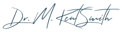 Signature of Edmond Oklahoma dentist M Kent Smith D D S