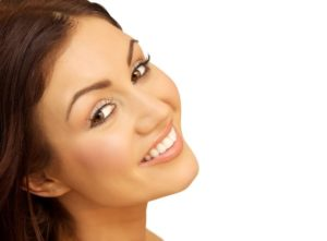 Woman with attractive smile from cosmetic dentist in Edmond.